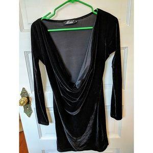 Black Velvet Dress by Motel